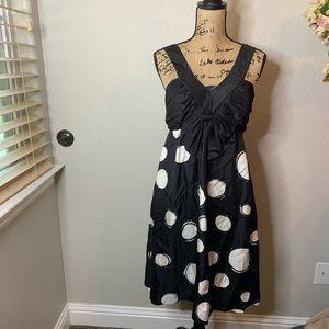 Donna Morgan 100% Silk Polka Dot Dress